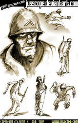 Soldier Sketches by jusscope
