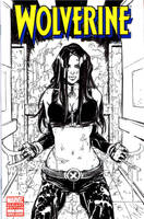 X23 Sketch Cover BW by Danielleister