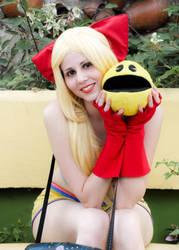 Gijinka Ms. Pac-Man by DollK