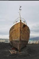 Wooden boat 2 - on land by enframed