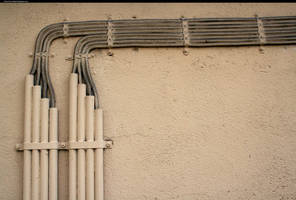 Electric cable by enframed