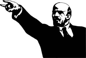 Black Metal Lenin by enframed