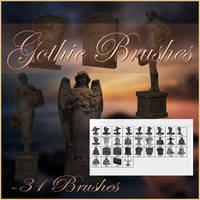 Gothic Brushes by moonchild-lj-stock