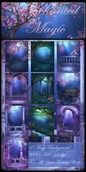 Enchanted Magic backgrounds by moonchild-lj-stock
