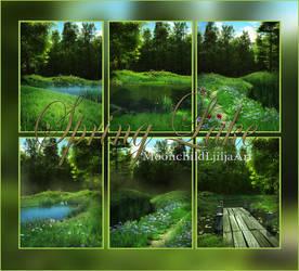 Spring Lake backgrounds by moonchild-lj-stock