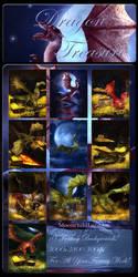 Dragon Treasure backgrounds by moonchild-lj-stock