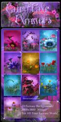 FairyTale Flowers backgrounds by moonchild-lj-stock