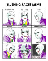 Joker Gaster Blushing Meme(Not really) by SmileyFaceOrg