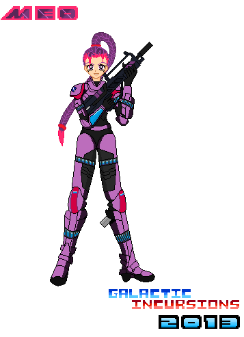 Pixel Art Character Concept Meo (Commission) by Luckymarine577