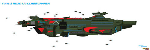 Spaceship Concept Type 2 Carrier by Luckymarine577