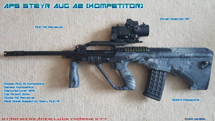 Airsoft APS Steyr AUG A2 Kompetitor by Luckymarine577