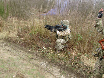 Airsoft Match, March 2017 by Luckymarine577