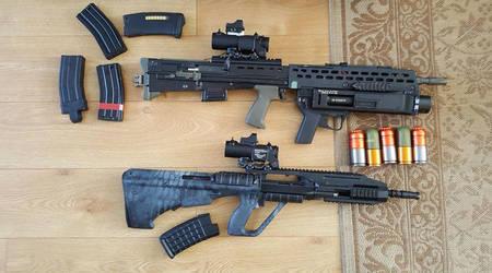 Airsoft Rifles L85A2 UGL AUG A3 by Luckymarine577