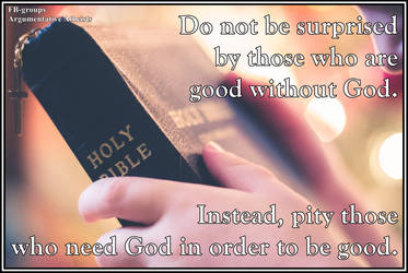 Good without God. by AAtheist
