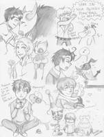 Hetalia: Hetamon Doodles by ExclusivelyHetalia
