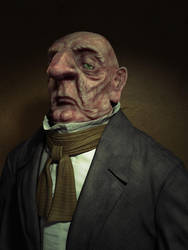 Ugly old man by mox3d