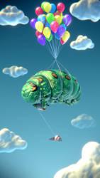 Caterpillar having Fun by mox3d