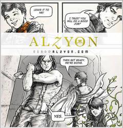 Alzyon Web Comic Intro Page by theresamelo