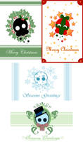 Skulpie Christmas: Card Designs by BaGgY666