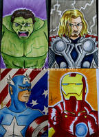 Avengers Sketch Cards by BaGgY666