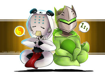 Onesiewatch - Zenyatta + Genji by BaGgY666