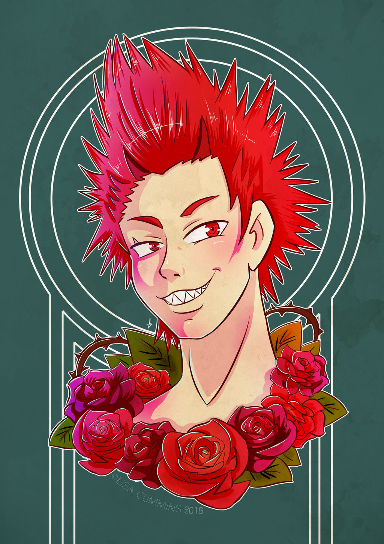 Kirishima + Roses by BaGgY666