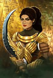 Golden warrior by JLeonardK