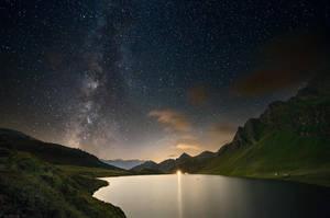 Cadagno under the Milky Way by Ganjalvi