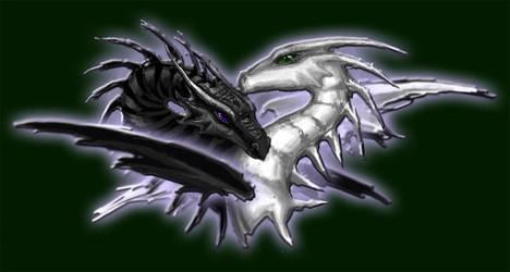 The dragons- logo by Gravitzappa