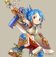 Swordsman girl by tabihito