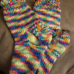 Rainbow Socks by julie-karasik