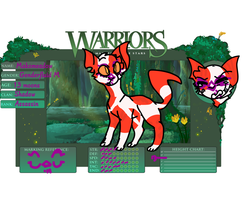 The Marked Warriors Makomeadow APP by TheMysteryfox8