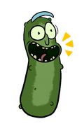 Pickle Rick [Binary Pixel] by CosmicAscension