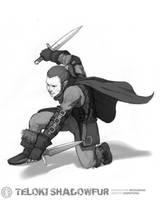 Teloki Shadowfur Commission by justinwongart