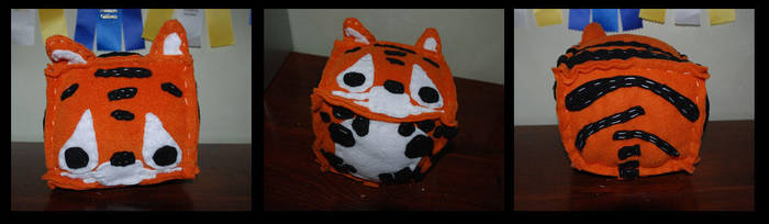 Box Plushie - Tiger by Underscores