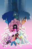 Steven Universe and the Crystal Gems! by JoanaTiago
