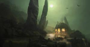 Witchdoctor's Hut by MatthewDobrich