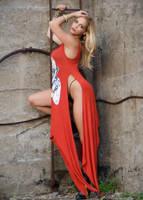 The Orange Dress III by MillsPhotos