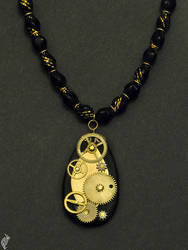 Clockpunk pendant by steelraven