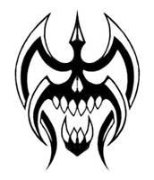tribal skull by steelraven