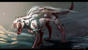 Time Creature concept art by solangedrawing