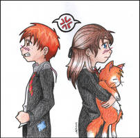 Ron and Hermione by mellie-chan