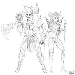 Draven and Zyra by Nidaou