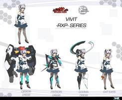 Touhou Vivid Daybreak - VIVIT-RXP re-design by Altronage