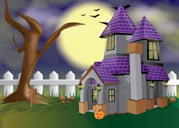 Little Haunted House Scene by Biklar