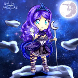 Chibi Princess Luna (Commission) by LittleKumaArt