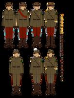 Occasian Army - Interbellum Uniforms by Epistellar