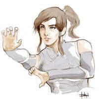 Korra - quick doodle by kimgobartolome