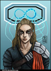 Lexa, the 100 (Speed Painting) by NatLeong