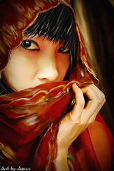 Mawar in Smudge Painting by Nchek